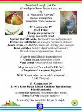Szt. István Király és a Magyarok Kenyere ünnep Mezőcsáton